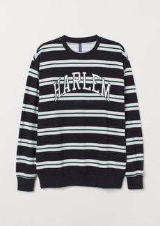 H&M H & M - Sweatshirt with Motif - Black
