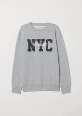 H&M H & M - Sweatshirt with Motif - Gray