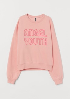 H&M H & M - Sweatshirt with Motif - Pink