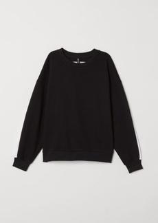 H&M H & M - Sweatshirt with Printed Design - Black