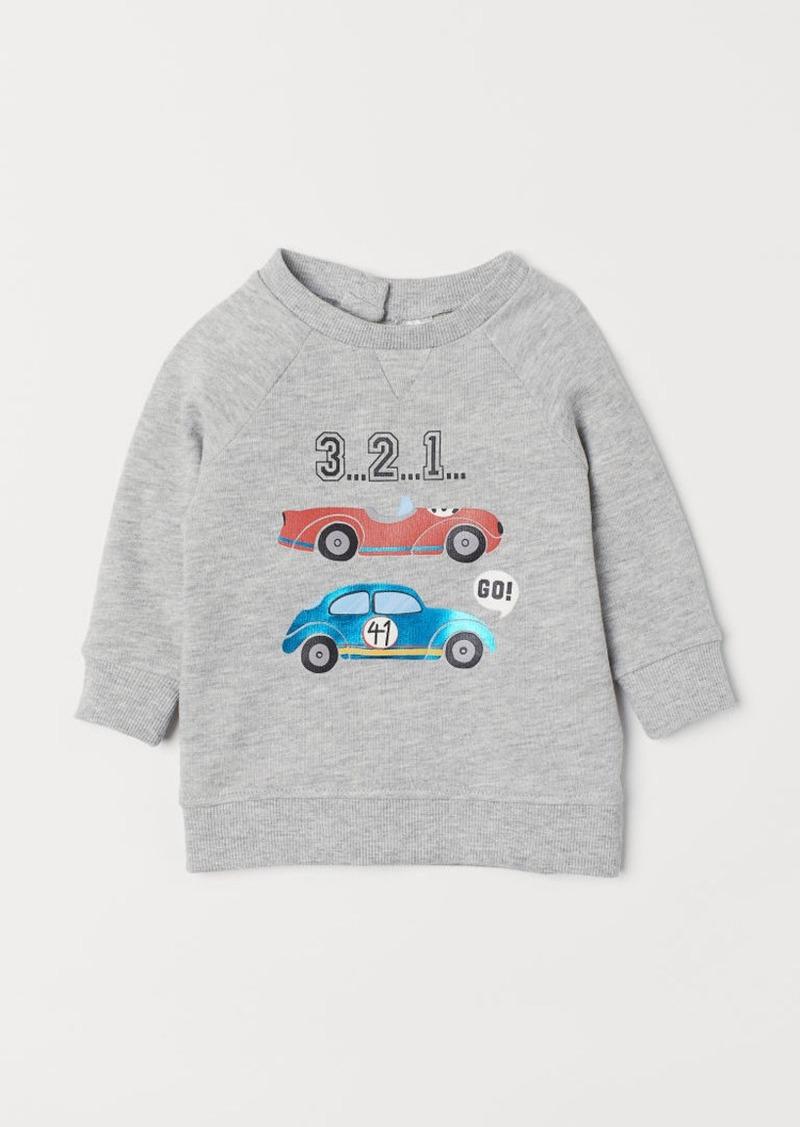 H&M H & M - Sweatshirt with Printed Design - Gray