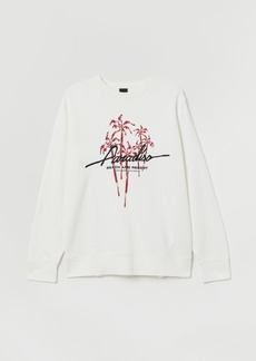 H&M H & M - Sweatshirt with Printed Design - White