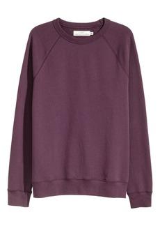 H&M H & M - Sweatshirt with Raglan Sleeves - Purple