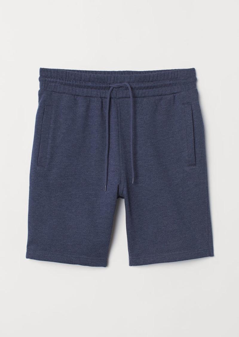 H&M H & M - Sweatshirt shorts Regular Fit - Blue