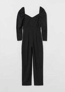 H&M H & M - Sweetheart-neckline Jumpsuit - Black