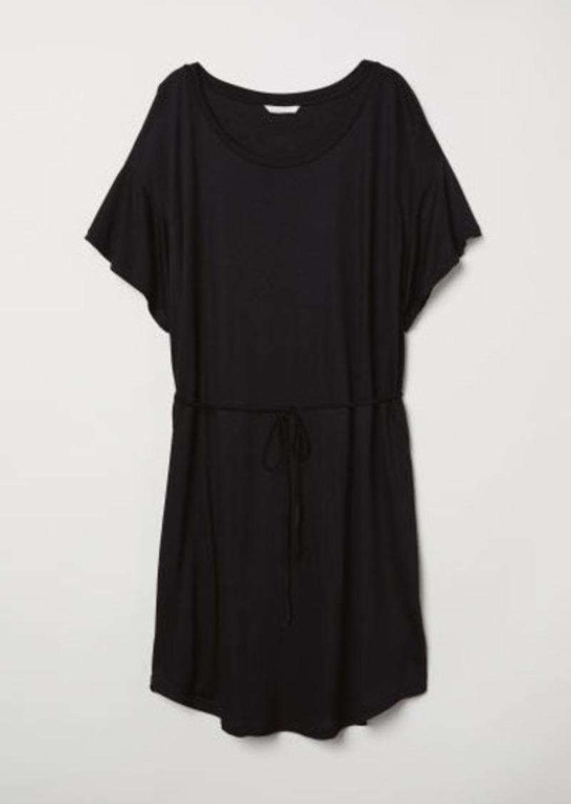 c8177b90f75 H M H   M - T-shirt Dress with Tie Belt - Black