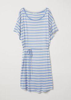 H&M H & M - T-shirt Dress with Tie Belt - Brown