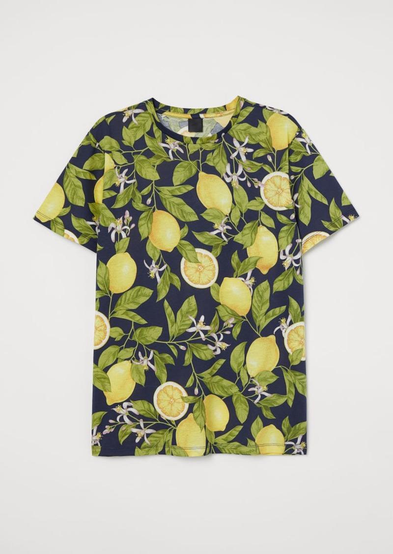 H&M H & M - Cotton T-shirt - Blue