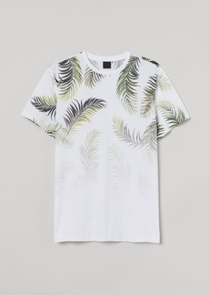 H&M H & M - T-shirt with Printed Motif - White