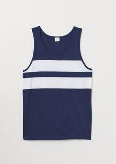 H&M H & M - Tank Top with Motif - Blue