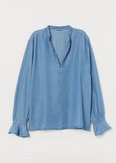 H&M H & M - Tencel® Lyocell Blouse - Blue