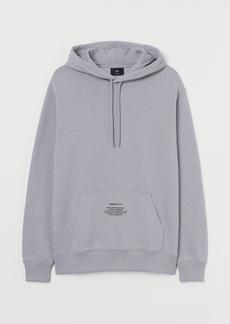 H&M H & M - Text-print Hoodie - Gray
