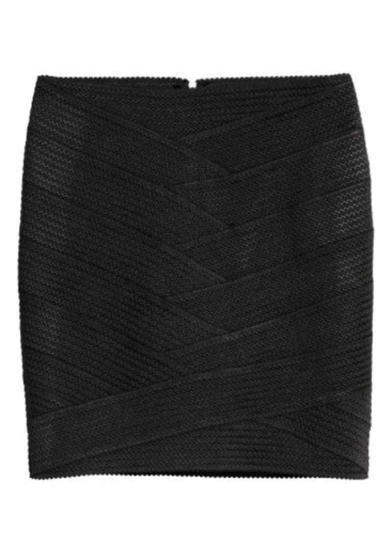 eac2981e16 H&M H & M - Texture-patterned Skirt - Black | Skirts