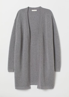 H&M H & M - Textured-knit Cardigan - Gray