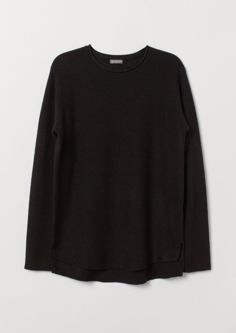 H&M H & M - Textured-knit Sweater - Black
