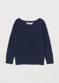 H&M H & M - Textured-knit Sweater - Blue