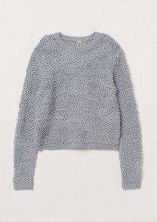 H&M H & M - Textured-knit Sweater - Gray