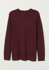 H&M H & M - Textured-knit Sweater - Red