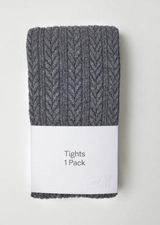 H&M H & M - Textured-knit Tights - Black