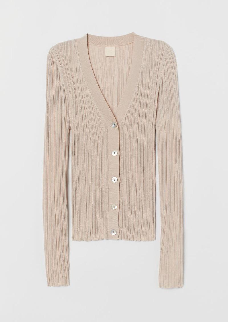 H&M H & M - Textured-knit Top - Beige
