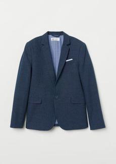 H&M H & M - Textured-weave Blazer - Blue
