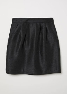 H&M H & M - Textured-weave Skirt - Black