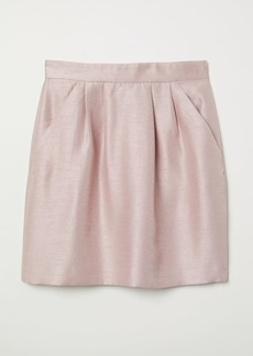 H&M H & M - Textured-weave Skirt - Pink