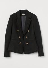 H&M H & M - Textured Wool-blend Jacket - Black