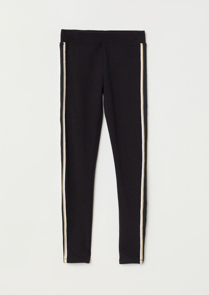 H&M H & M - Thick Jersey Leggings - Black