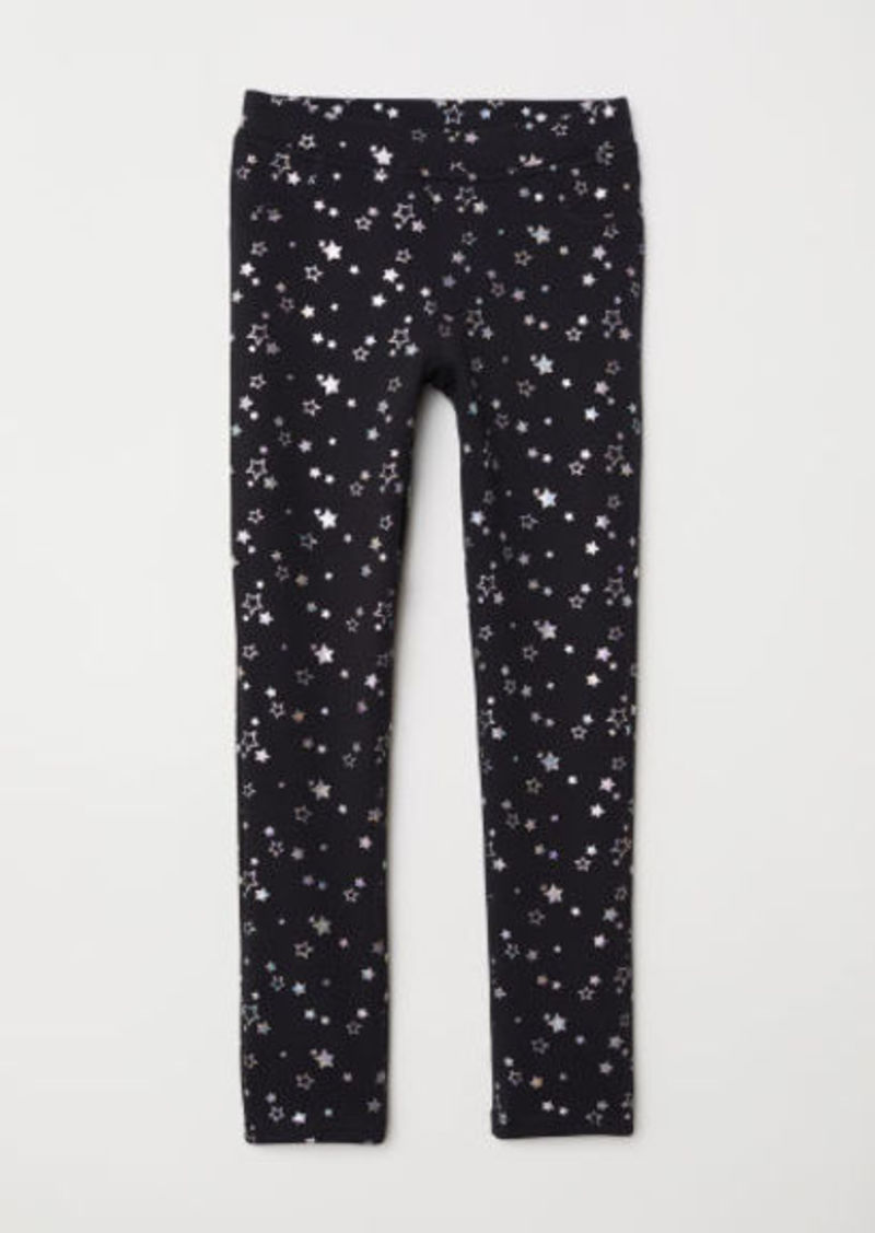 H&M H & M - Thick Jersey Leggings - Black