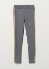 H&M H & M - Thick Jersey Leggings - Gray