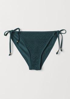 H&M H & M - Tie Bikini Bottoms - Turquoise