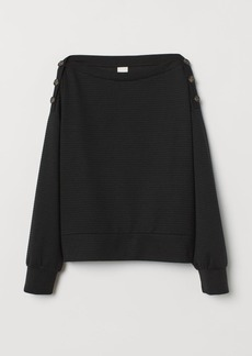 H&M H & M - Top with Buttons - Black