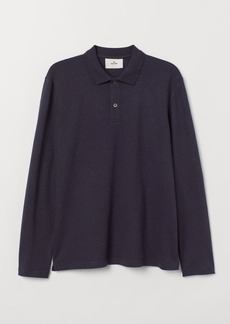 H&M H & M - Top with Collar - Blue