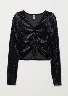 H&M H & M - Top with Drawstring - Black