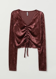 H&M H & M - Top with Drawstring - Red