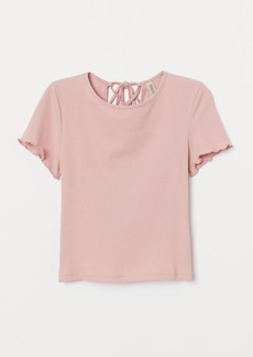 H&M H & M - Top with Lacing - Pink