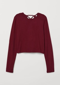 H&M H & M - Top with Lacing - Red
