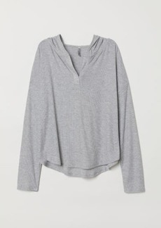 H&M H & M - Top with Large Hood - Gray