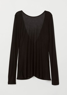 H&M H & M - Top with Low-cut Back - Black