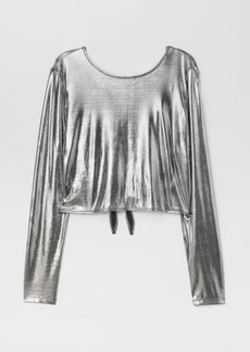 H&M H & M - Top with V-neck Back - Silver