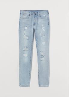 H&M H & M - Trashed Skinny Jeans - Blue