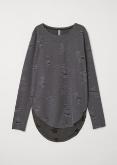 H&M H & M - Trashed Top - Gray