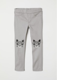 H&M H & M - Treggings with Appliqués - Gray