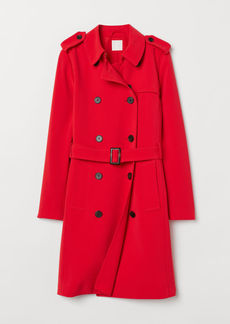 H&M H & M - Trenchcoat - Red
