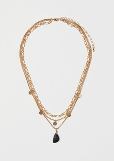 H&M H & M - Triple-strand Necklace - Black