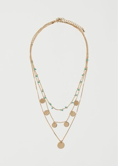 H&M H & M - Triple-strand Necklace - Turquoise