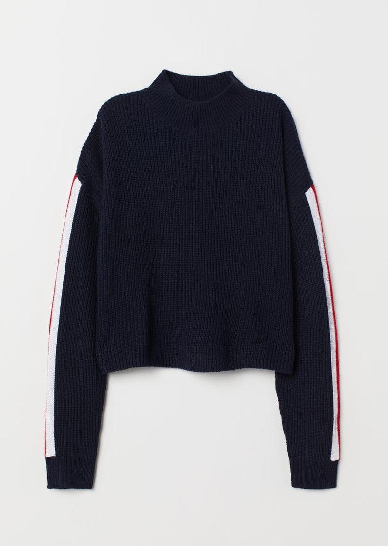 H&M H & M - Turtleneck Sweater - Blue