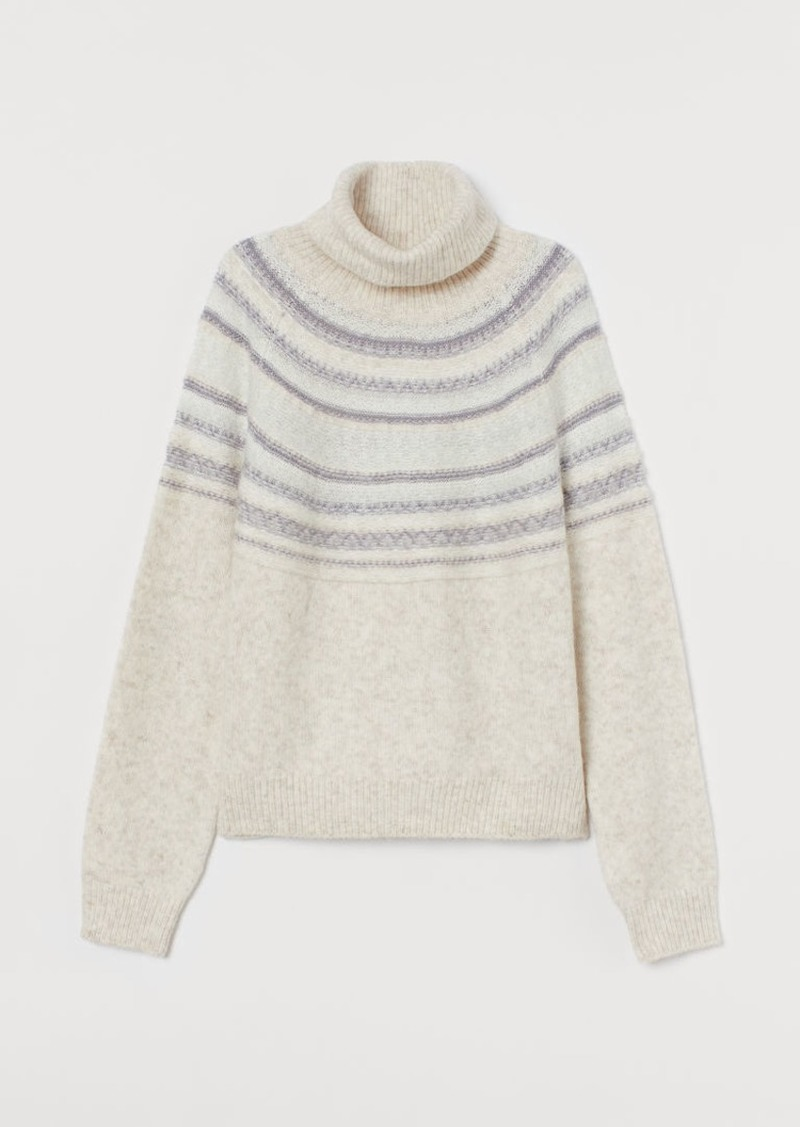 H&M H & M - Turtleneck Sweater - Gray