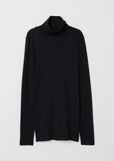 H&M H & M - Turtleneck Top - Black